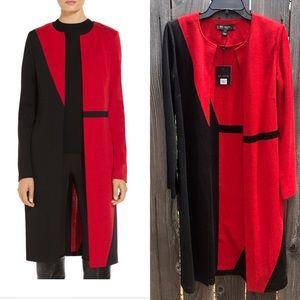 NEW ST. John slanted color block Milano jacket